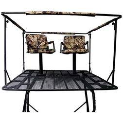 Elevated 2-Man 12' Tower Tree Stand Deer Hunting 2-Padded 36
