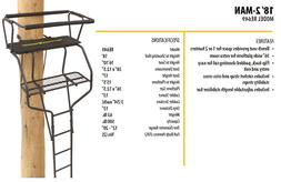 Ladder Tree Deer Construction Stand 15' Two- Man 2 Seat Hunt